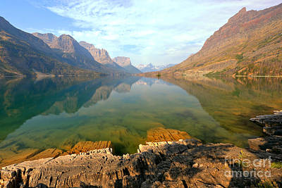 Photograph - St. Mary Lake On The Edge by Adam Jewell