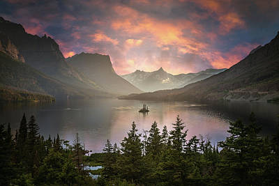 Photograph - St Mary Lake  by William Lee