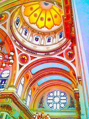 St. Mary Of The Angels 1 Art Print by Dave Luebbert