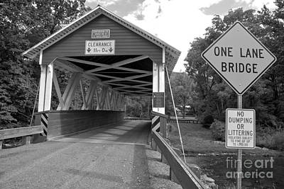 Photograph - St. Mary One Lane Bridge Black And White by Adam Jewell