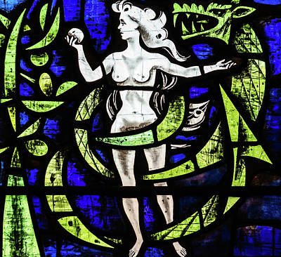 Photograph - St Mary Redcliffe Stained Glass Close Up D by Jacek Wojnarowski