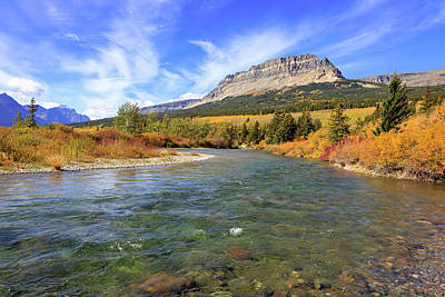 Photograph - St. Mary River Autumn by Jack Bell
