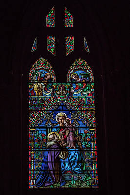 Photograph - St. Mary Stained Glass by Gregory Daley  MPSA