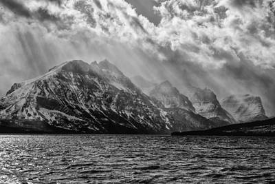 St Mary Photograph - St Mary Storm, Glacier National Park  by Greg Wyatt