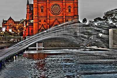 Photograph - St Mary's And Water Fountain by Miroslava Jurcik