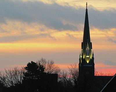 Photograph - St. Mary's At Dawn by Jennifer Wheatley Wolf