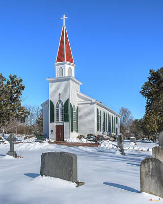 Photograph - St. Mary's Catholic Church Dhfx0011 by Gerry Gantt