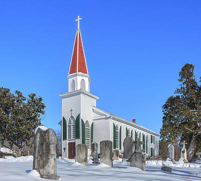 Photograph - St. Mary's Catholic Church Dhfx0012 by Gerry Gantt