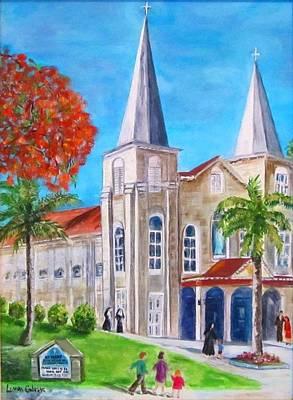 St. Mary's Catholic Church Key West Art Print