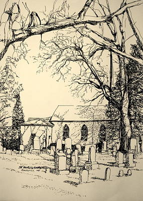 St. Mary's Cemetary Art Print by George Lucas