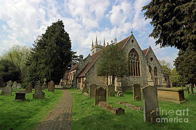Photograph - St Marys Church Ewell Village Surrey by Julia Gavin