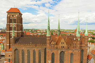 Photograph - St. Mary's Church, Gdansk by Marek Poplawski