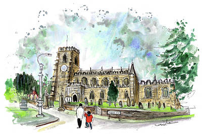 Painting - St Marys Church In Thirsk by Miki De Goodaboom