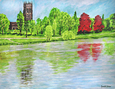 Mary Painting - St Mary's Church - Lymm by Ronald Haber