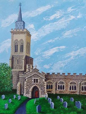 Painting - St. Mary's In England by Katherine Young-Beck
