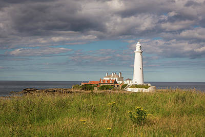 Photograph - St Mary's Lighthouse Headland by Gary Eason