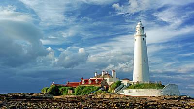 John Brown Photograph - St Marys Lighthouse  by John Brown