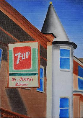 7up Sign Painting - St. Mary's Liquor by Tim Webster