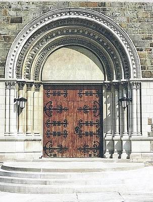 Digital Art - St. Mary's Of Redford Entrance by Ellen Barron O'Reilly