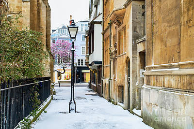 Photograph - St Mary's Passage Oxford In Winter by Tim Gainey