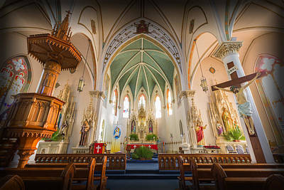 Religious Art Photograph - St Mary's Sanctuary by Stephen Stookey