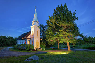 Photograph - St. Matthew's Chapel, Sugar Hill Nh by Rick Berk