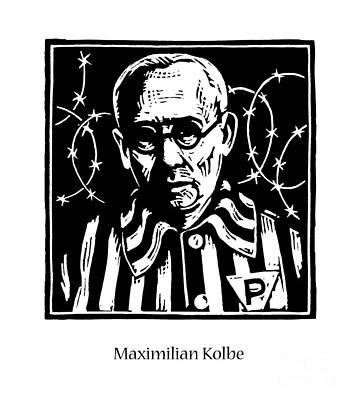 Painting - St. Maximilian Kolbe - Jlmax by Julie Lonneman