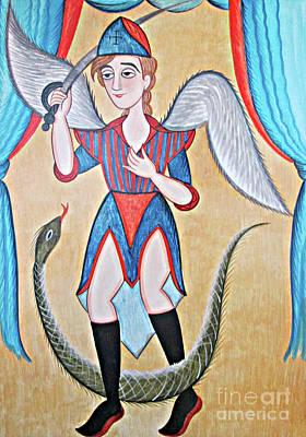 Painting - St. Michael Archangel - Aomkl by Br Arturo Olivas OFS