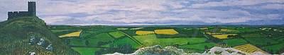 Brentor Painting - St Michael De La Rupe Pt One by Richard  Hubal