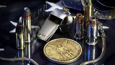 Law Enforcement Photograph - St Michael Phone Case by Gary Yost