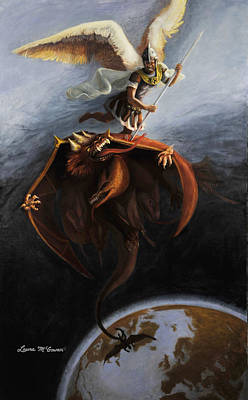 Painting - St. Michael by Sister Laura McGowan