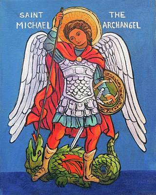 St. Michael The Archangel Print by Candy Mayer
