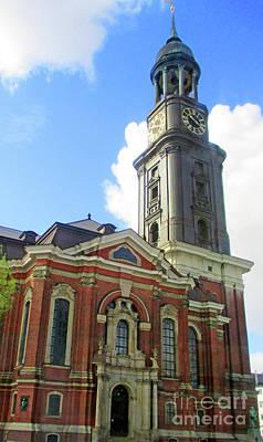 Photograph - St Michaelis Kirche 1 by Randall Weidner