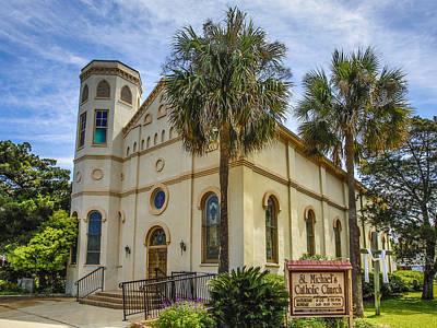 Photograph - St Michael's Catholic Church Fernandina by Paula Porterfield-Izzo