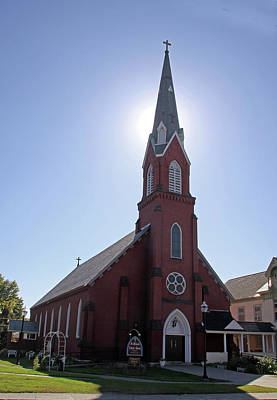 Photograph - St. Michaels Catholic Church by Gerald Mitchell