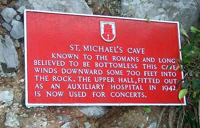 Photograph - St Michaels Cave by David and Lynn Keller