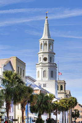 St Michaels Church Charleston Sc 3 Print by Dustin K Ryan