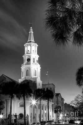St Michaels Church Charleston Sc Black And White  Original by Dustin K Ryan