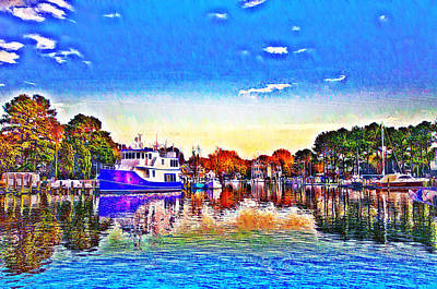 St. Michael's Marina Art Print by Bill Cannon