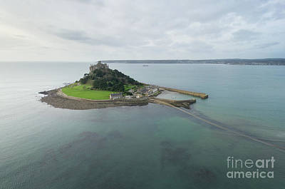 Photograph - St Michaels Mount Aerial by Steev Stamford