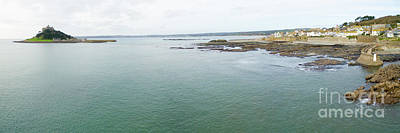 Photograph - St Michaels Mount Bay Aerial by Steev Stamford