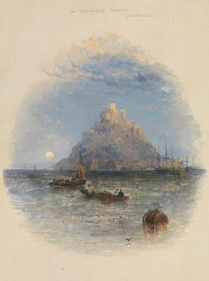 Birmingham Painting - St. Michael's Mount, Cornwall by Thomas Creswick
