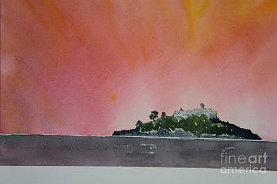 Tourist Site Painting - St. Michaels Mount Cornwall by Tony Cook