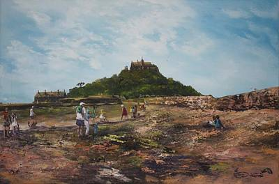 Painting - St Michaels Mount Cornwalll by Jean Walker