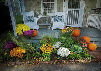 Photograph - St Michaels Porch - Halloween by Brian Wallace
