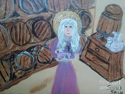 Moral Painting - St. Monica In The Wine Cellar by Seaux-N-Seau Soileau