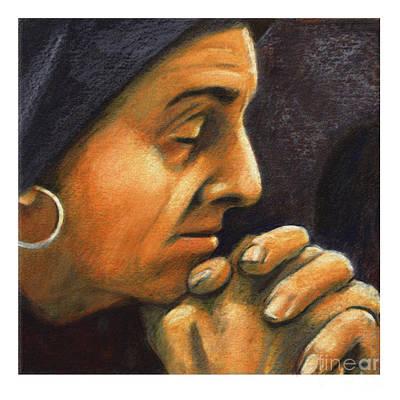 Painting - St. Monica - Jlmoa by Julie Lonneman