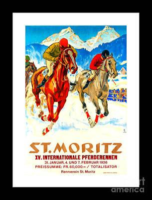 Race Horse Painting - St Moritz X V International Horse Race II 1926 Hugo Laubi by Peter Gumaer Ogden Collection
