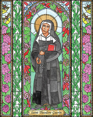 Painting - St. Mother Theodore Guerin by Brenda Nippert