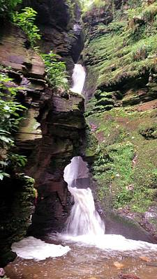 Photograph - St Nectans Kieve Waterfall by Richard Brookes